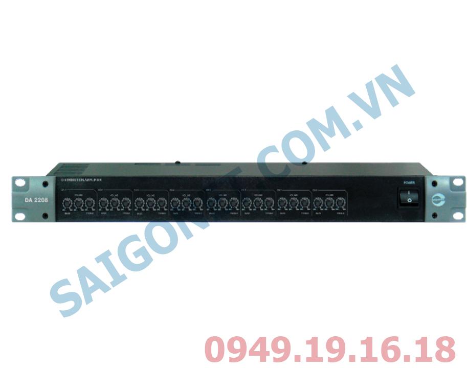 Bộ khuếch đại chia tín hiệu 2 ngõ vào 8 ngõ ra Amperes DA2208