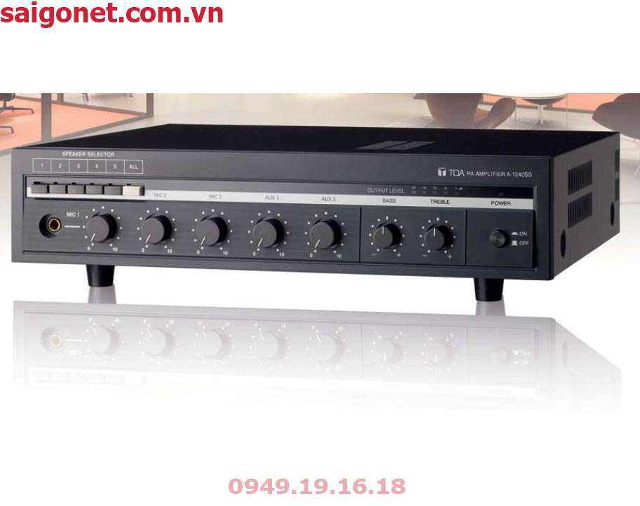 Amply Mixer 240W 5 vùngTOA A-1240SS