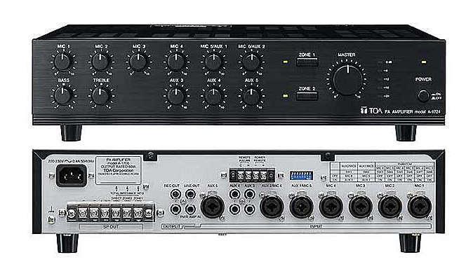 Tăng âm liền mixer 240W  TOA A-1724