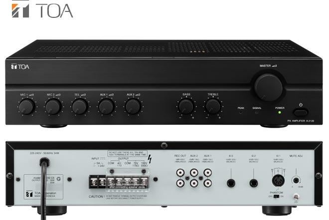 Tăng âm liền mixer 240W TOA A-2240