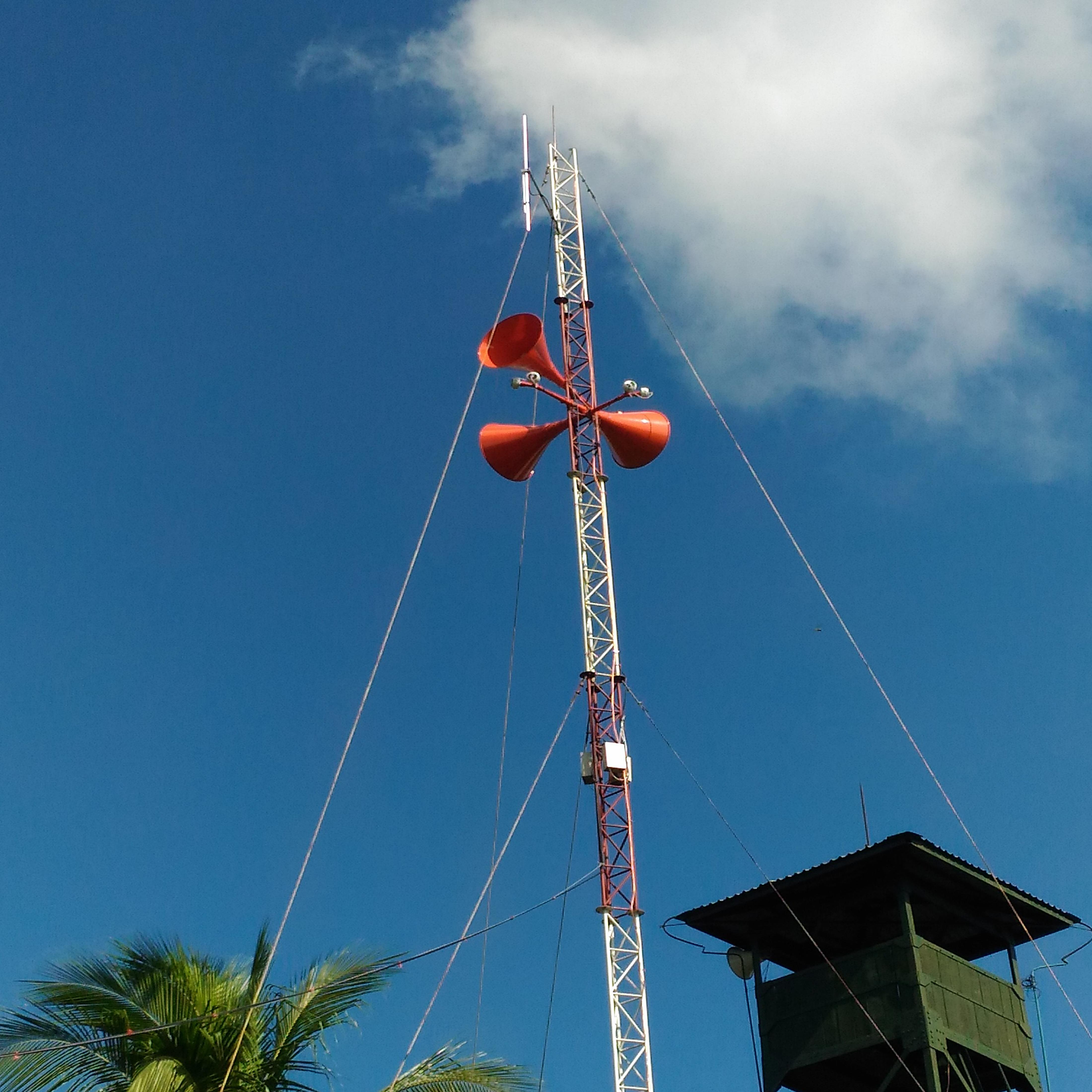 Lắp đặt hệ thống Loa Kèn phát thanh công suất lớn dọc biên giới Việt Nam - Campuchia