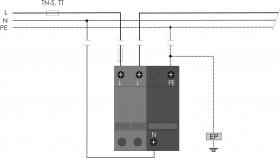 Thiết bị chống sét lan truyền 1 pha SPC 25 DS/1+1 HAKEL