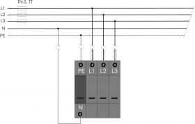 Thiết bị chống sét lan truyền 3 pha PIIIM-275 DS/3+1 HAKEL