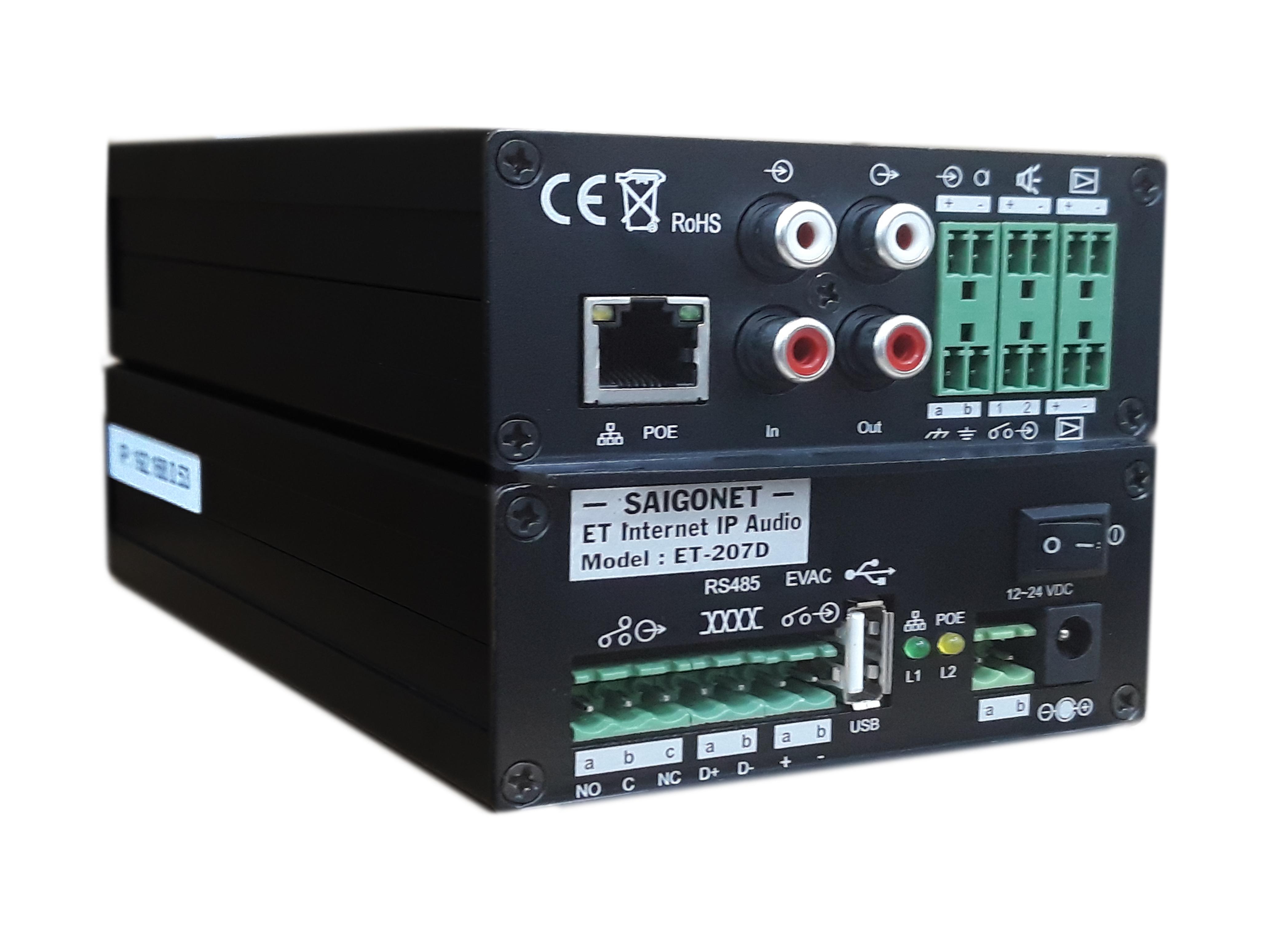 Bộ giải mã tín hiệu âm thanh ET Internet IP Audio ET-207D